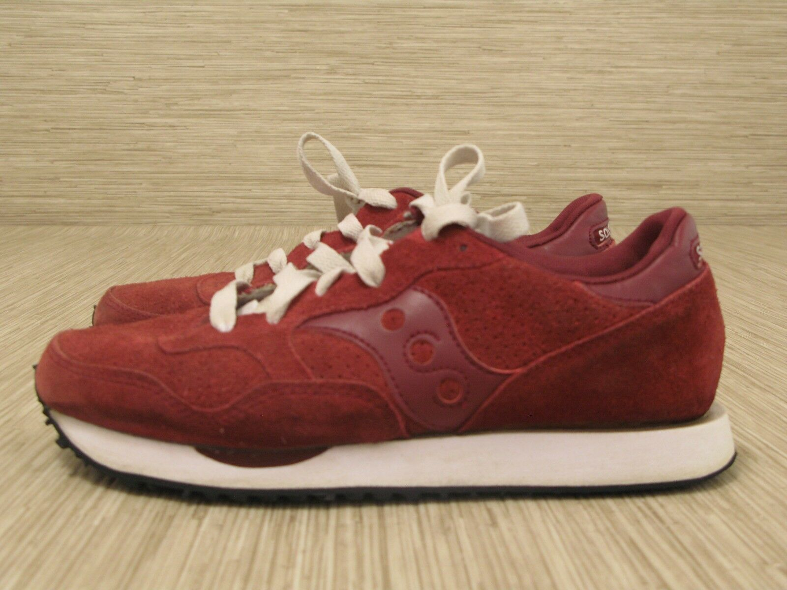 Saucony & Madewell DXN Trainer Red Suede Shoes Women's Size US 7 Running