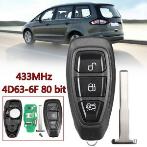 3-Buttons-Remote-Key-Fob-433MHz-Replacement-For-Ford-B-Max-C-Max-KR55WK48801