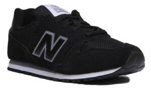 bianca 373 In Kj373kuy Suede Youth New Leather nero Trainers Balance And qvPCqw1R