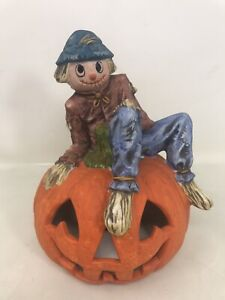 VTG-OWC-Halloween-Pumpkin-Scarecrow-Jack-O-Lantern-Ceramic-Old-world-Christmas