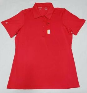 NEW-Antigua-Womens-Pure-Desert-Dry-Golf-Polo-Shirt-Red-Size-M-Medium
