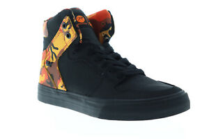 Supra-Vaider-08206-014-M-Mens-Black-Nubuck-Lace-Up-High-Top-Sneakers-Shoes