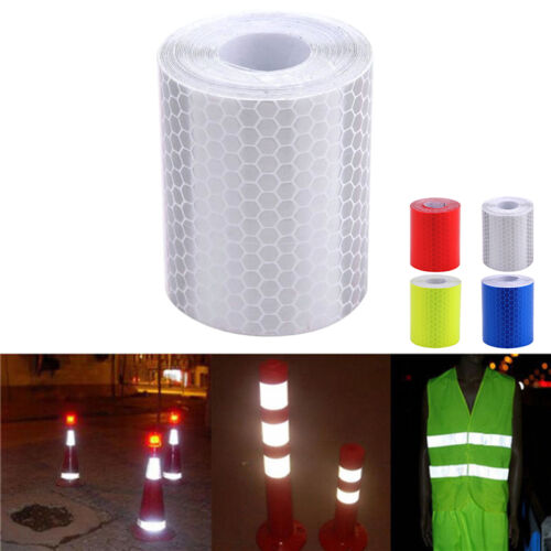 USA Car Truck Reflective Self-adhesive Safety Warning Tape Roll Film Sticker