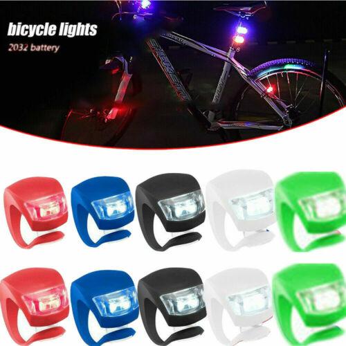 10 x Fahrrad Rücklicht Lampe Fahrradlicht LED Silikon Vorne Hinten Beleuchtung