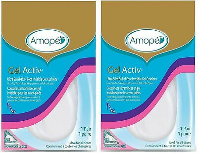 Amopé GelActiv Ultra Slim Ball of Foot Invisible Gel Cushions Insoles 2 PAIR
