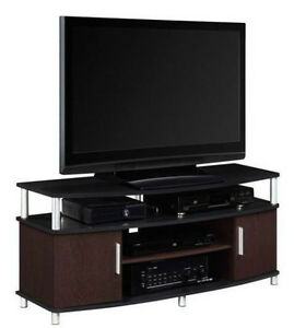 """Carson TV Stand TVs up to 50"""" Flat Panel TV Console Entertainment Center Wood"""