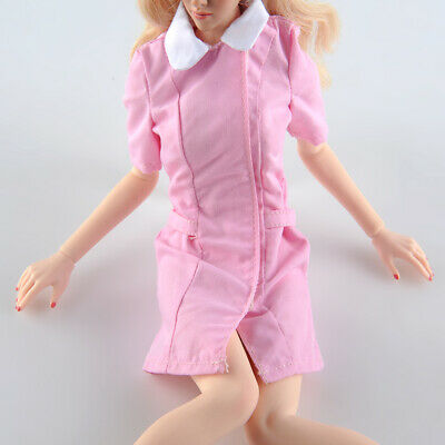 "1//6 Cosplay Skirt Pink Nurse Uniform Clothing Model Fit 12/""Female Action Figure"