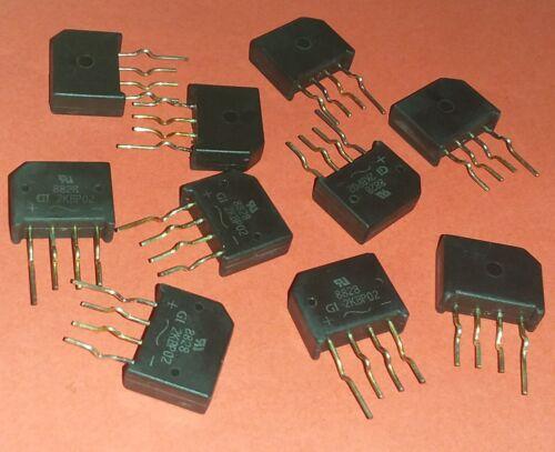 GI 2KBP Brückengleichrichter Gleichrichter 200V 2A  AC in DC B200 C2000 10x org