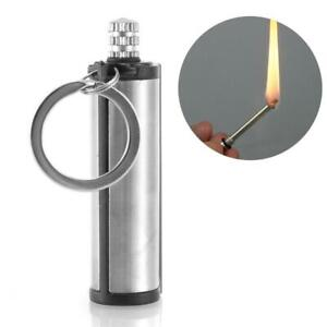 Permanent-Matches-Metal-Box-Round-Square-Lighter-Cigarette-Camping-Novel-Keyring