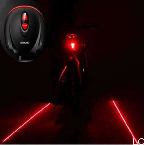 LO US 2 Laser+ 5 LED Cycling Bicycle Taillight Warning Lamp Flashing Alarm Light
