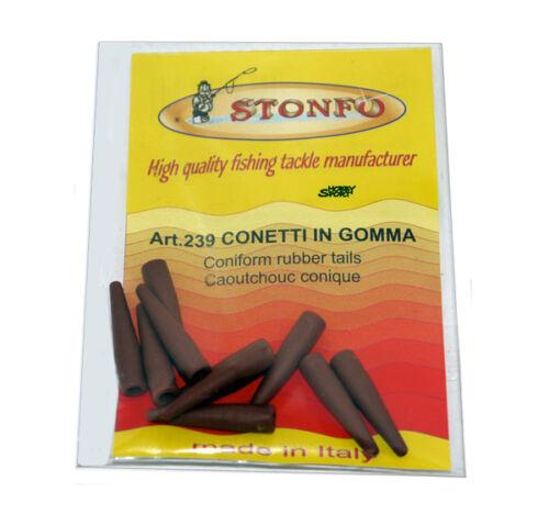 STONFO 239 mis 3  CONETTO GOMMA PER ATTACCO RAPIDO SURF CARPFISHING