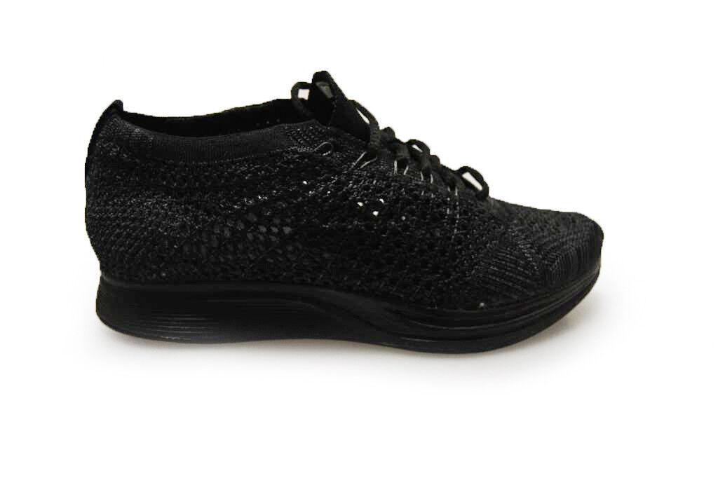 Unisex Nike Flyknit Racer - 526628009 - Triple Black Trainers