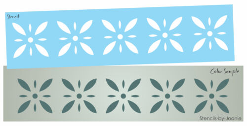 Colonial Prim Stencil Starburst Diamond Flower Folk Art Country French Border