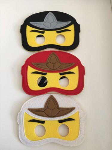 Ninjago themed  Ninja kids boys felt Masks fancy dress birthday party 6 colours