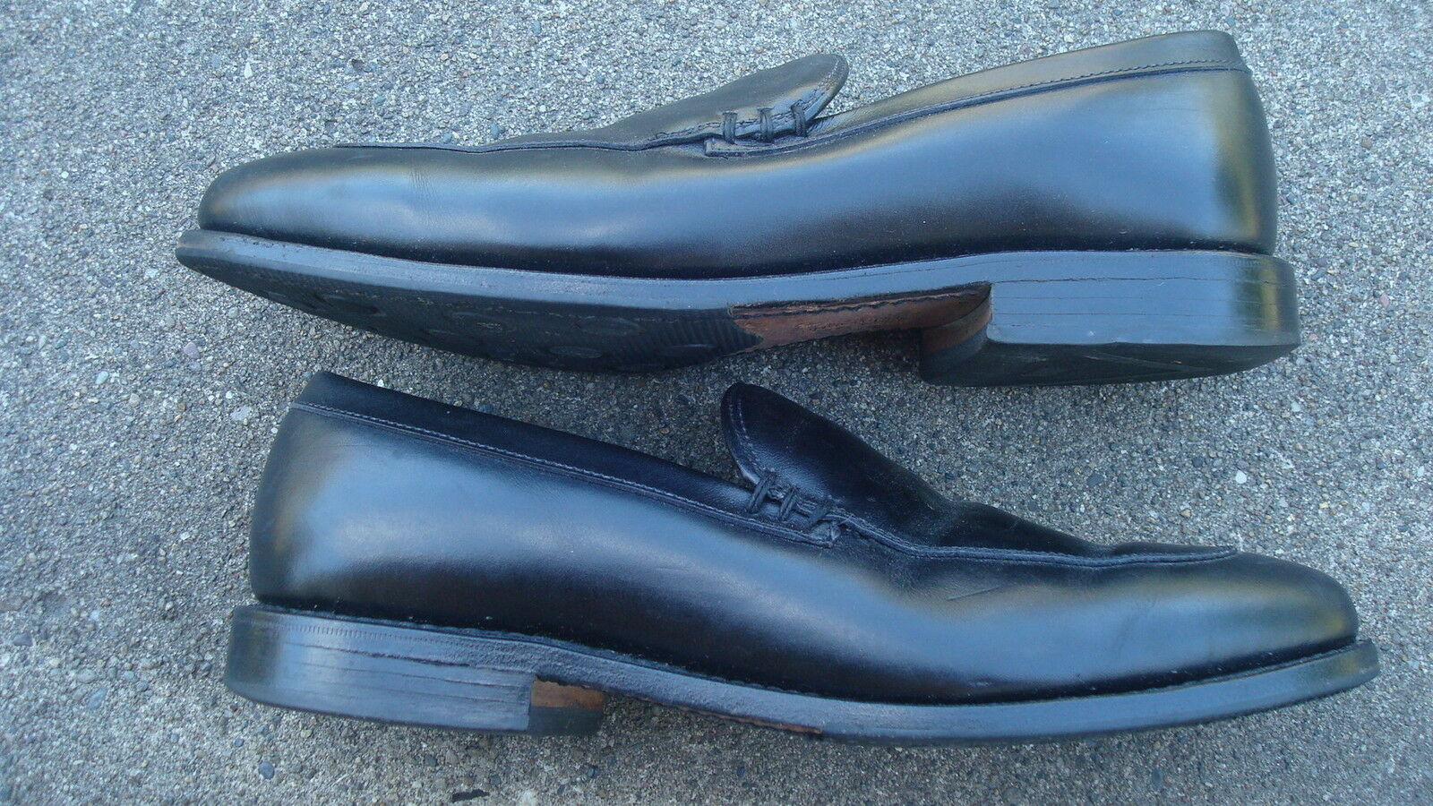 Allen Edmonds Steen 8D Loafers Black Slip On Mens shoes Made IN USA Leather