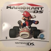 Nintendo Ds Mario Kart Ds Handheld Racing Store Display Sign Ad Poster
