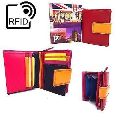 Prime Hide Rfid Blocco Nuovo Regno Unito London Rosso Pochette In Pelle Multi Colore 6084-mostra Il Titolo Originale