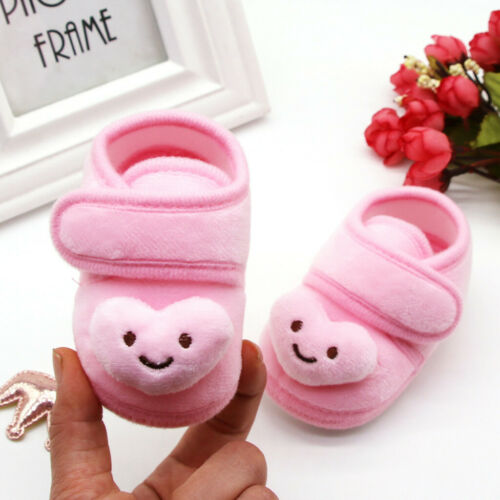 Toddler Infant Baby Boy Girl Plush Stars Cloud Winter Warm Boots Soft Sole Shoes
