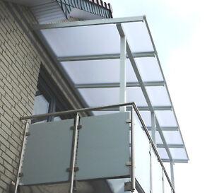 Details zu PCSdach® - Balkonüberdachung mit Dachüberstand / wahlweise auch  mit Rinne