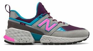 New-Balance-Men-039-s-574-Sport-Shoes-Grey-With-Blue