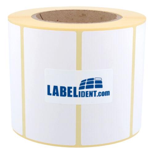 "1500 Thermo Etiketten auf Rolle 95 x 48 mm Thermodirekt 3/"" Eco permanent"