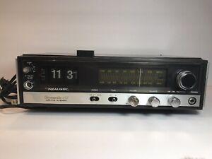 Realistic-Chronomatic-112-Am-Fm-stereo-Flip-Clock-Radio-Working-Read