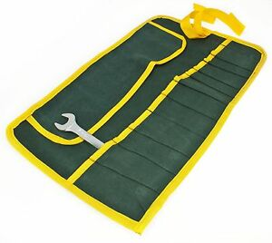 Toolzon-Canvas-16-POCKET-TOOL-ROLL-Spanner-Wrench-Tool-Storage-Bag-Case-Fold-Up
