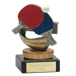 Crown Awards Table Tennis Award Trophy 11 Inch Customized Female Ping Pong Trophies Prime