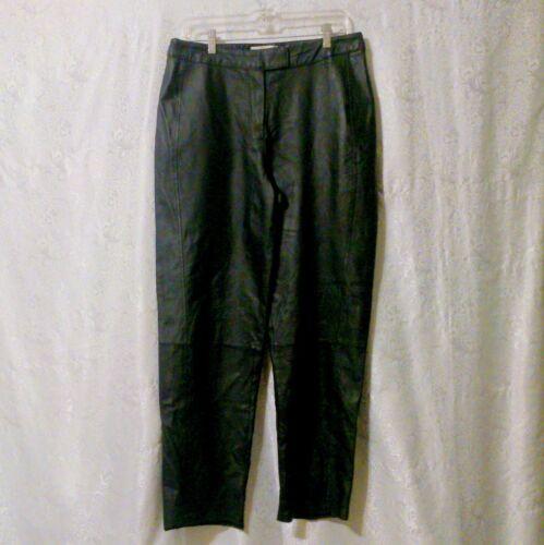 Bagatelle Vintage Black Leather Pants  Size 12