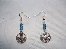 8d636c335 item 3 Tibetan Silver Scottish Thistle earrings & Sterling Silver hooks  -Tibetan Silver Scottish Thistle earrings & Sterling Silver hooks