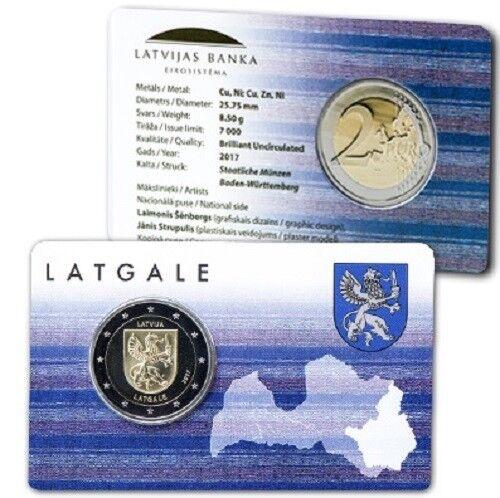"""NEU!! 2 Euro Coincard Lettland Latvia 2017 2 Euro """" Latgale"""