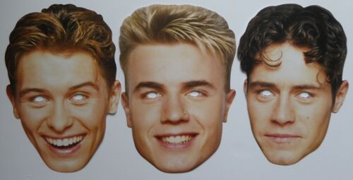 Great for Parties//Concerts Retro 1990s Take That Face Masks 1st Class Post