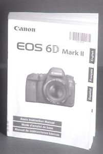 Details about Canon EOS 6D Mark II Genuine Camera Instruction Book / Manual  / User Guide