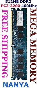 Nanya-512MB-DDR2-PC2-3200-400MHz-Desktop-Memory-Ram-Sydney-FREE-POST