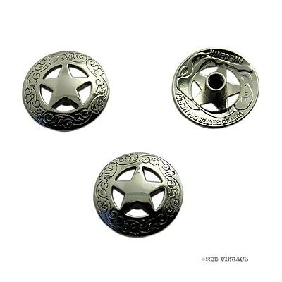【Daily Deal】10pc 3/4'' Western Concho Texas Star Saddle Concho Silver