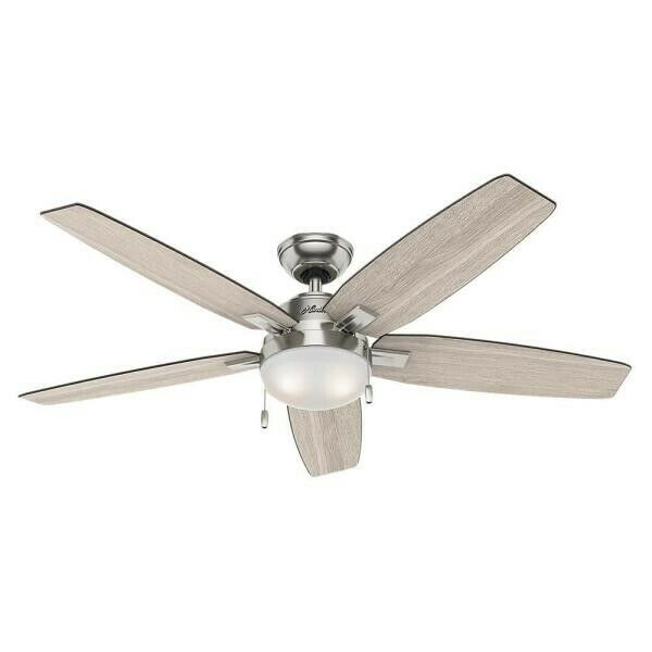 Hunter Avia Ii Led 52 In Brushed Nickel Led Indoor Ceiling Fan With Remote 59601 For Sale Online