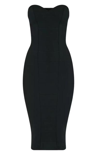 06ad0a2c289a8 PrettyLittleThing Kayalla Black Bandage Dress Size UK 10 rrp £28 DH079 ii 28