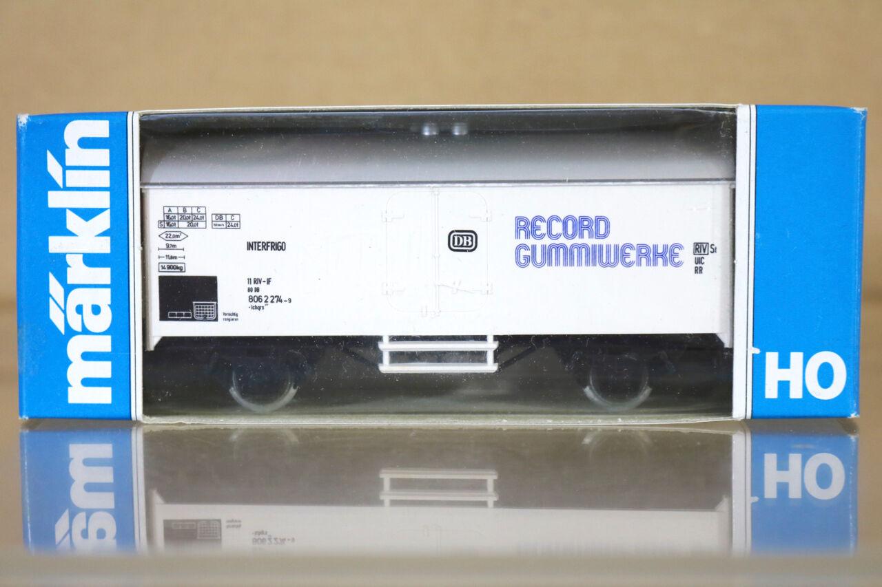 MARKLIN MäRKLIN 4415 K8092 SONDERMODELL DB RECORD GUMMIWERKE Kühlwagen nc