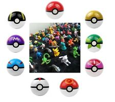 9PCS Pokemon Pikachu Pokeball Cosplay Pop-up + 24 Pokemon Fgures Combo Set
