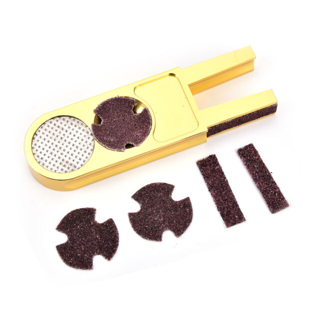 U-shape multi-functional pool cue tip trimmer shaper/scuffer/tapper/burnisher#@