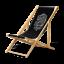2 Liegestuhl klappbar aus Holz Liege Strandliege Strandstuhl Jack Daniel's nr