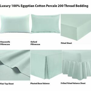 Image Is Loading 100 Egyptian Cotton Luxury Ed Percale Warm T200