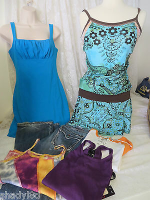 Mixed Items & Lots Clothing Lot Bebe Sport 1921 Moda Int Skinny Minnie 1921 Jeans Tops Dress Rising Clear And Distinctive