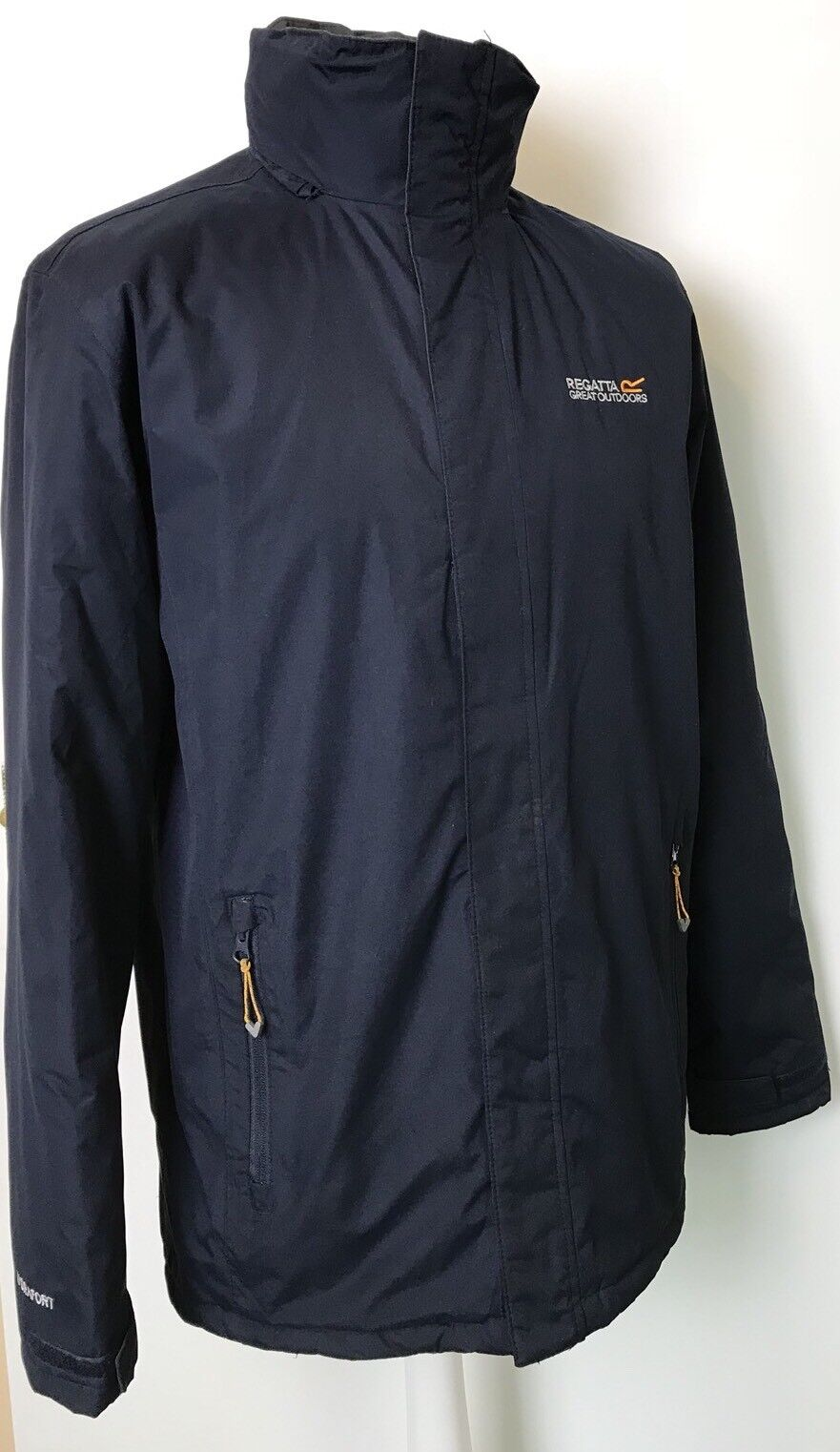 Regatta Hommes Thornridge Bleu Marine Hydrafort Veste / Manteau Rembourré Imperméable