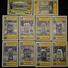10 x Notgeld Lehesten , Alte Thüringer Grenzsteine emergency Money unc komplett