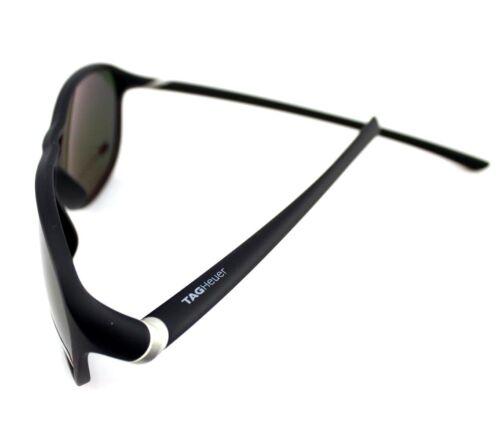 POLARIZED New TAG Heuer 27 Degree Urban Matte Black Green Sunglasses TH 6043 301