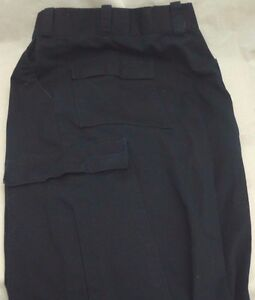 USED-The-Force-HX2415B-Black-Pants-Police-EMS-Military-Size-32-Hemmed