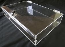 Acrylic Rectangular Countertop Display Case Lock Box 12 X 10 X 3 Box Display