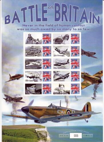 BC301 Battle of Britain Smilers Stamp Sheet