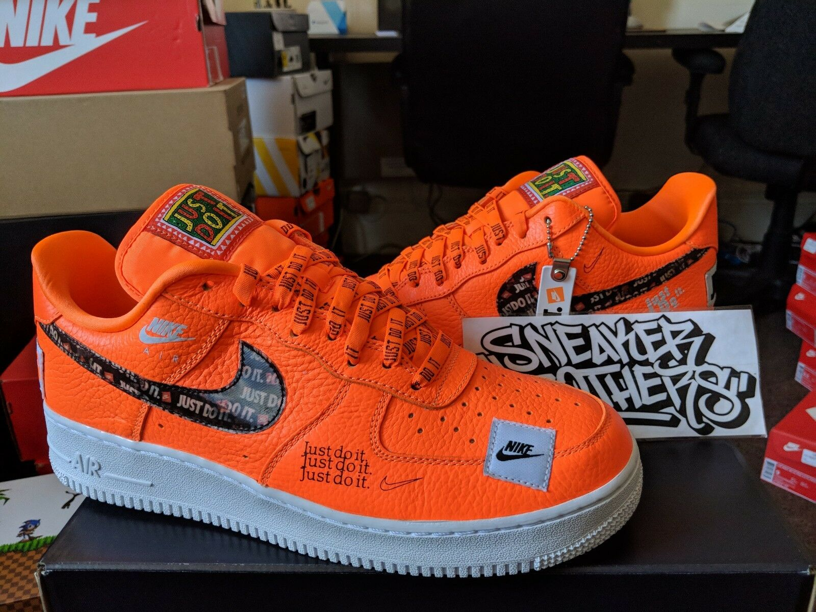 Nike Air Force One 1 '07 Premium PRM Low JDI Just Do It Total Orange AR7719-800